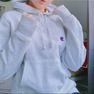 Grey Champion Hoodie Sweatshirt